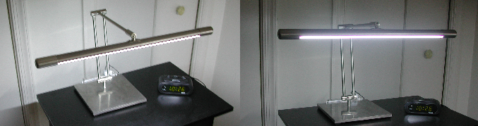 Fluorescent desk lamp