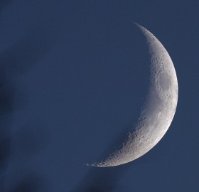 Moon in late afternoon