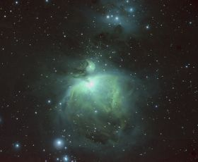 Near-Infrared / Visible Composite Image of Orion Nebula